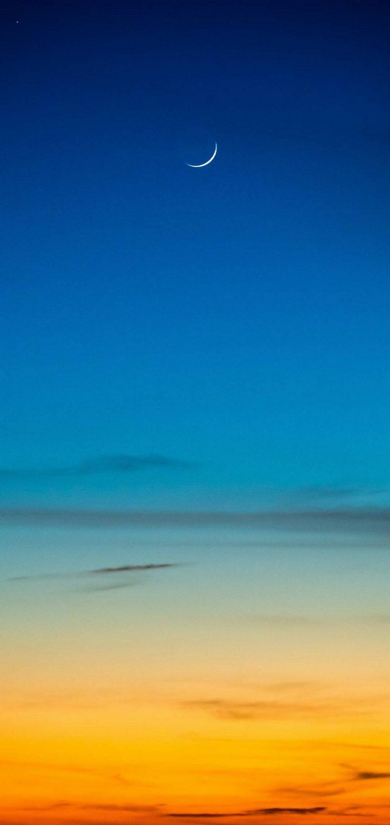 Moon Clouds Nature Wallpaper 1440x3040 768x1621