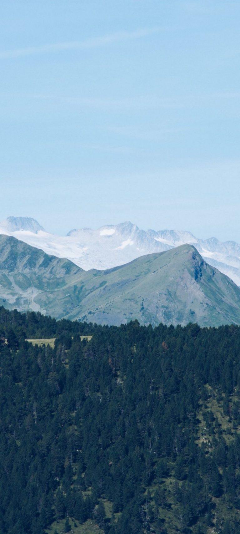 Mountain Range Mountains Trees