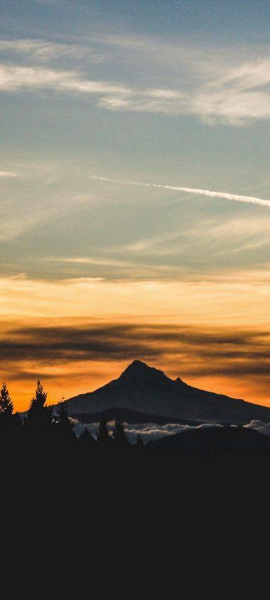 Mountain Sunset Sky Nature 1080x2400 380x844