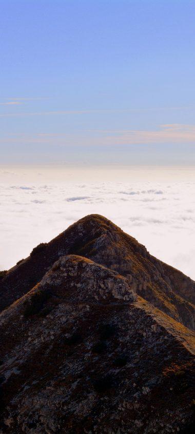 Mountain Top Sky Clouds Carrega 1080x2400 380x844