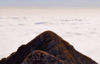 Mountain Top Sky Clouds Carrega Wallpaper 1440x3040 340x220