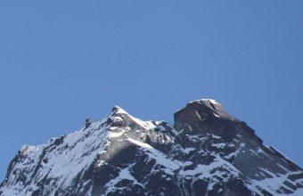 Mountain Top Sky Moon Snow Wallpaper 1440x3040 340x220