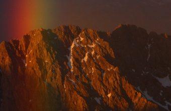 Mountains Sky Rainbow Snow Wallpaper 1440x3040 340x220