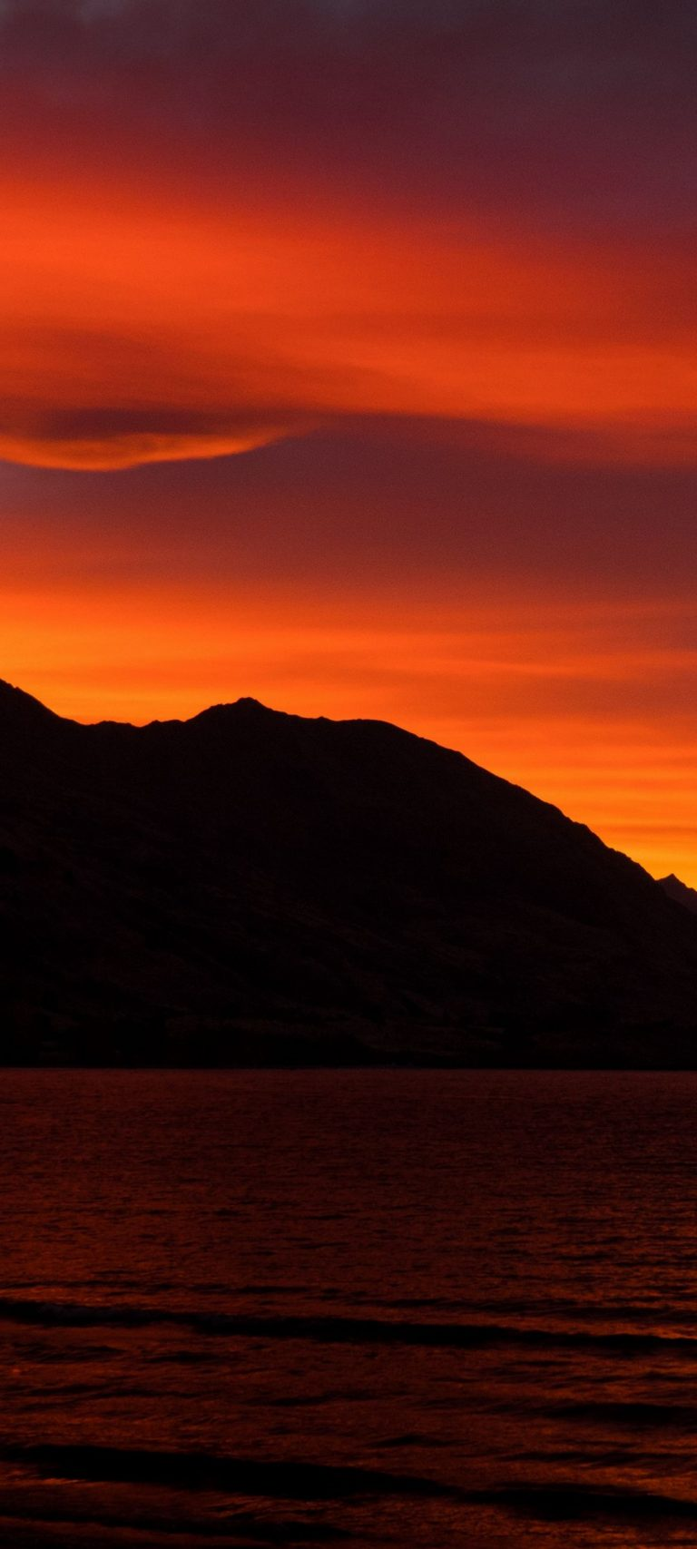 Mountains Sunset Skyline Sky 1080x2400 768x1707