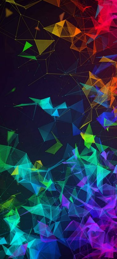 Multi Color Polygon 1080x2400 380x844
