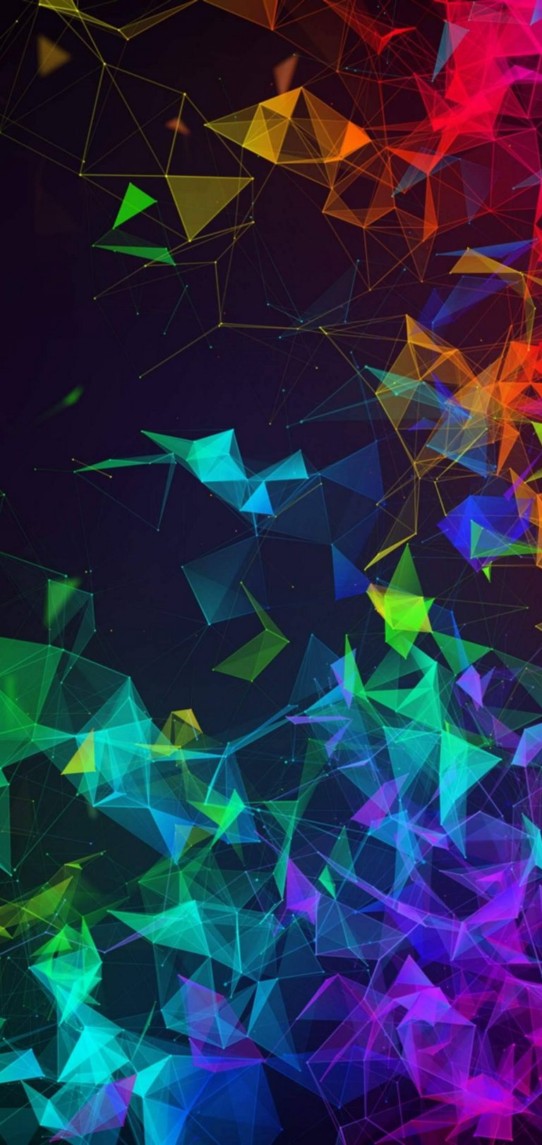 Multi Color Polygon Wallpaper 1440x3040 768x1621