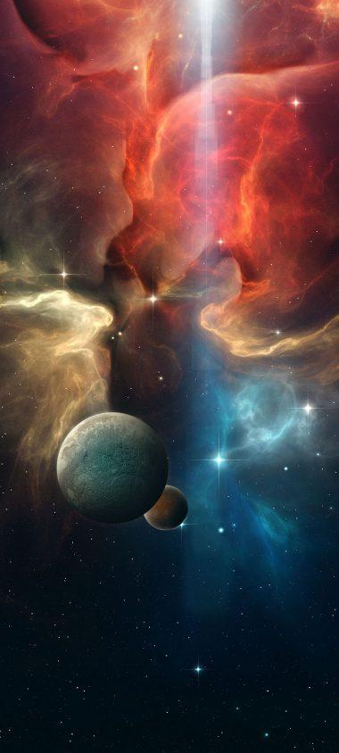 Multicolor Space Planet 1080x2400 380x844