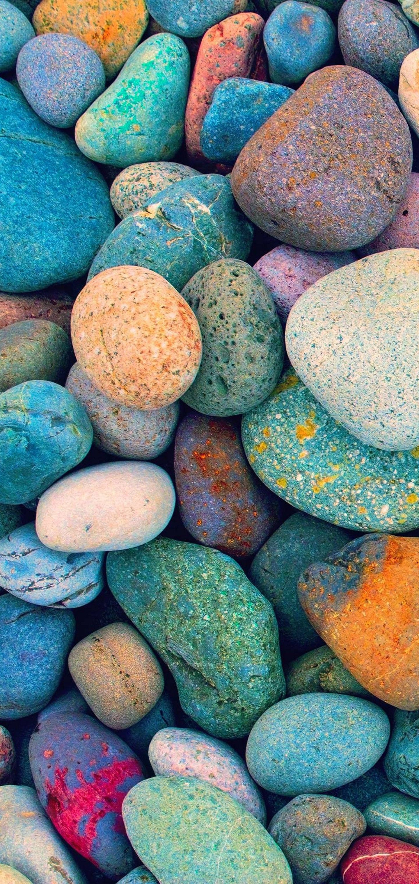 Multicolored Stones Wallpaper 1440x3040