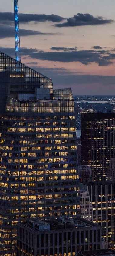 New York Buildings Skyscrapers Night 1080x2400 380x844