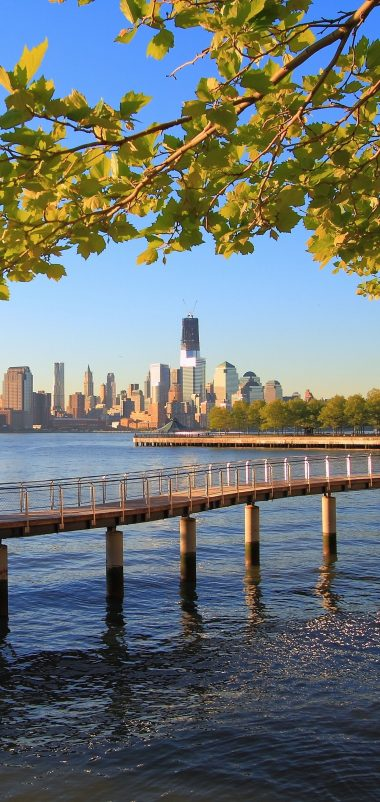 New York City Water Ocean Nature Trees Wallpaper 1440x3040 380x802