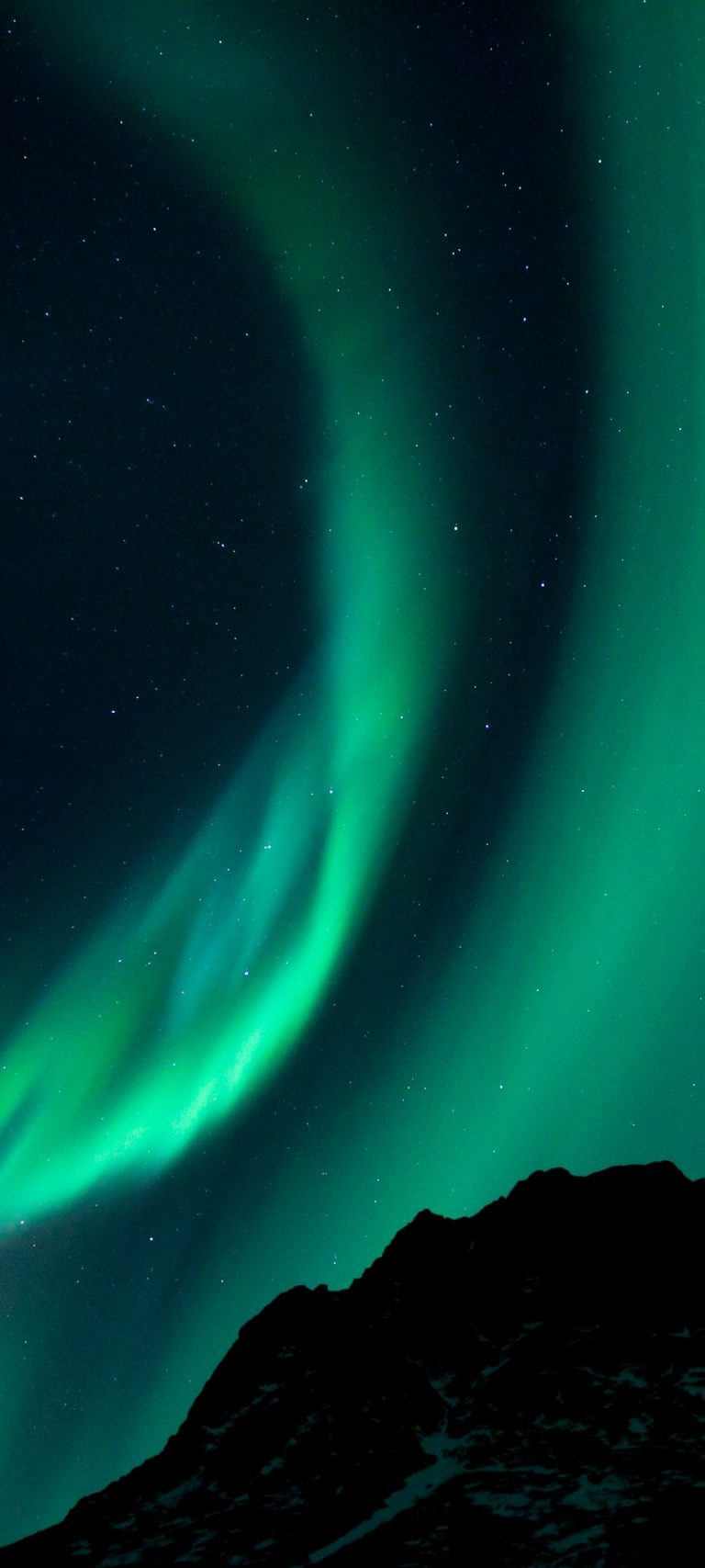 Northern Lights Night Night Sky 1080x2400 768x1707