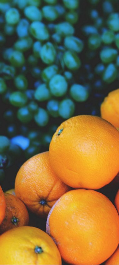Oranges Grapes Fruit 1080x2400 380x844