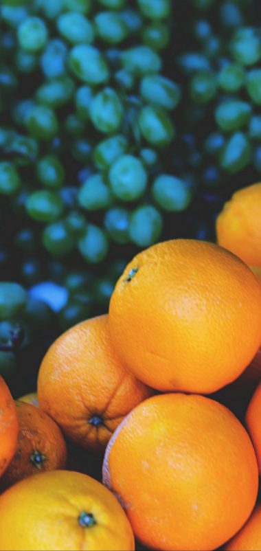 Oranges Grapes Fruit Wallpaper 1440x3040 380x802