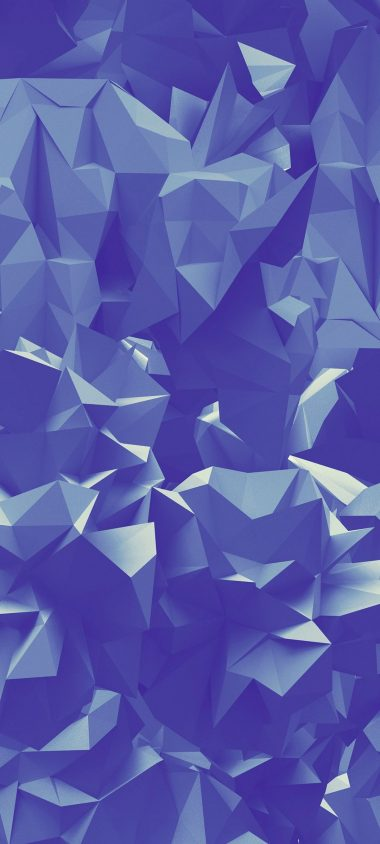Paper Folds Triangles Geometric 1080x2400 380x844