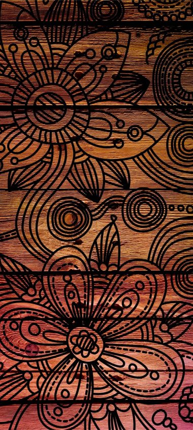 Patterns Background Dark Wooden 1080x2400 380x844
