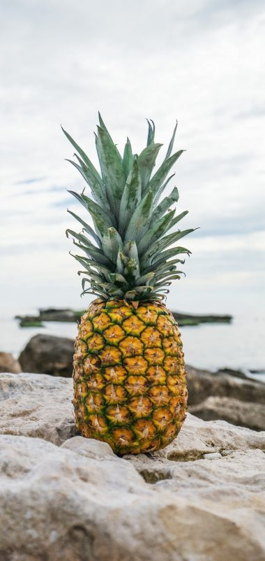 Pineapple Rocks Beach Wallpaper 1440x3040 380x802