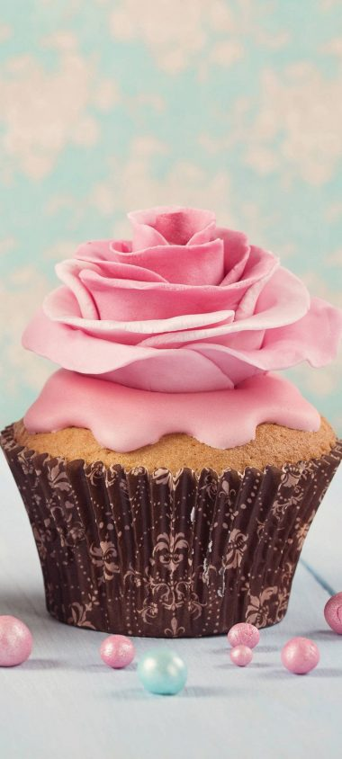 Pink Flower Cup Cake 1080x2400 380x844