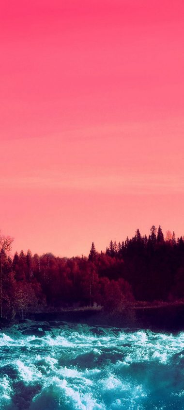 Pink Sky Nature Water 1080x2400 380x844