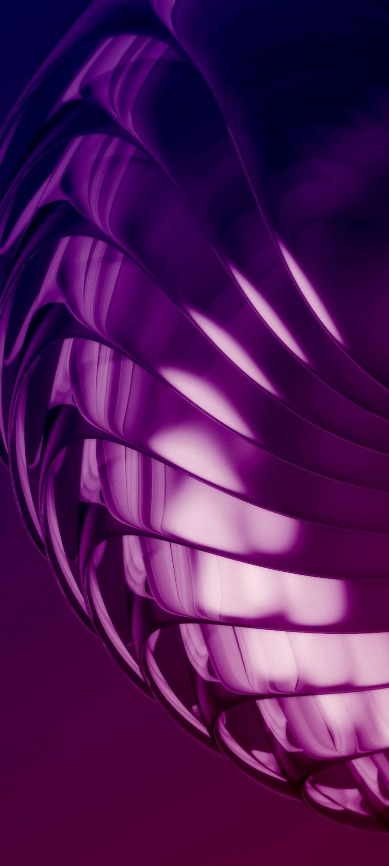 Purple Layers 3D Abstract 1080x2400 768x1707