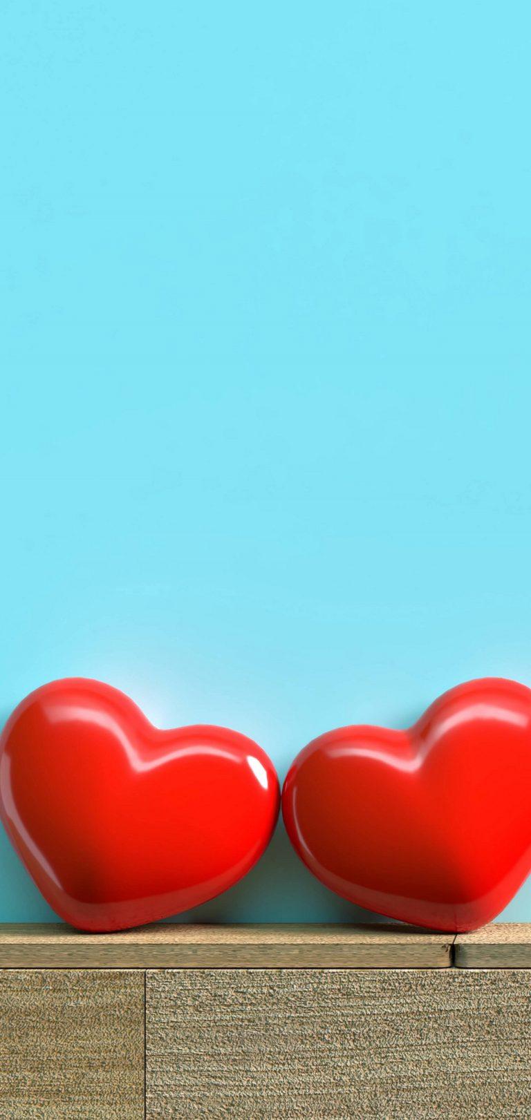 Red Hearts Love Wallpaper 1440x3040 768x1621