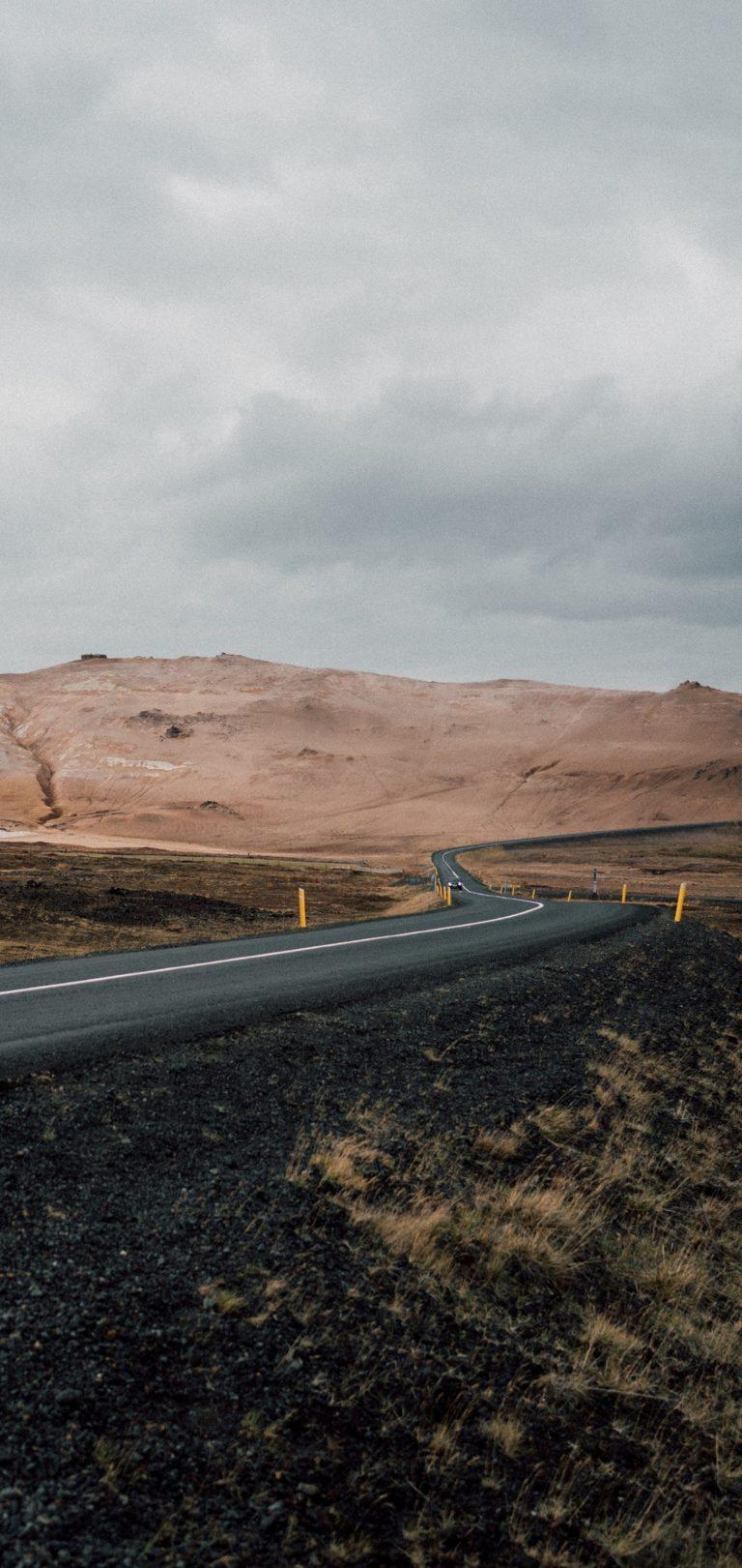 Road Asphalt Mountains Marking Wallpaper 1440x3040 768x1621