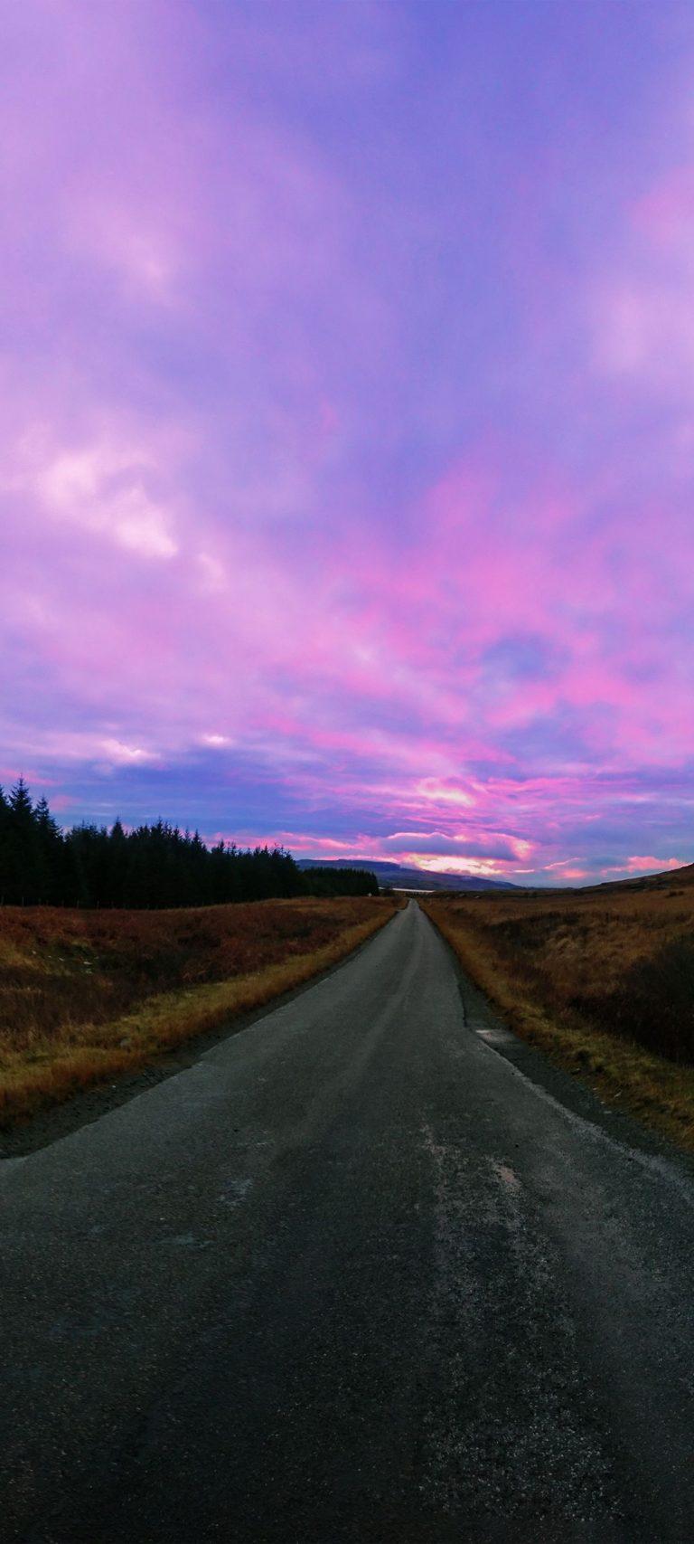 Road Sky Grass 1080x2400 768x1707