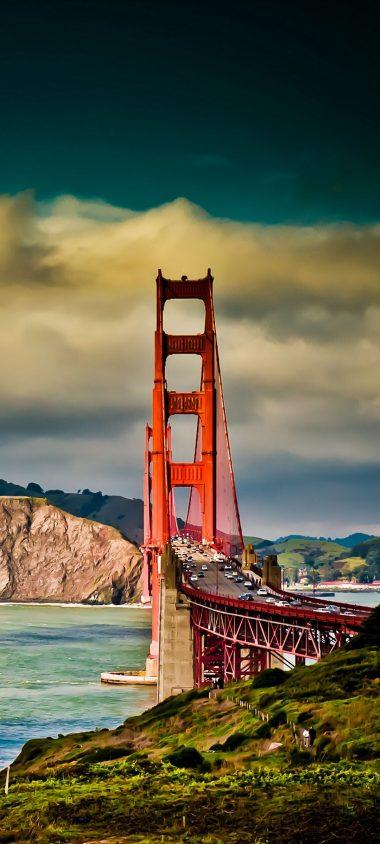 San Francisco Bridge Sky River 1080x2400 380x844