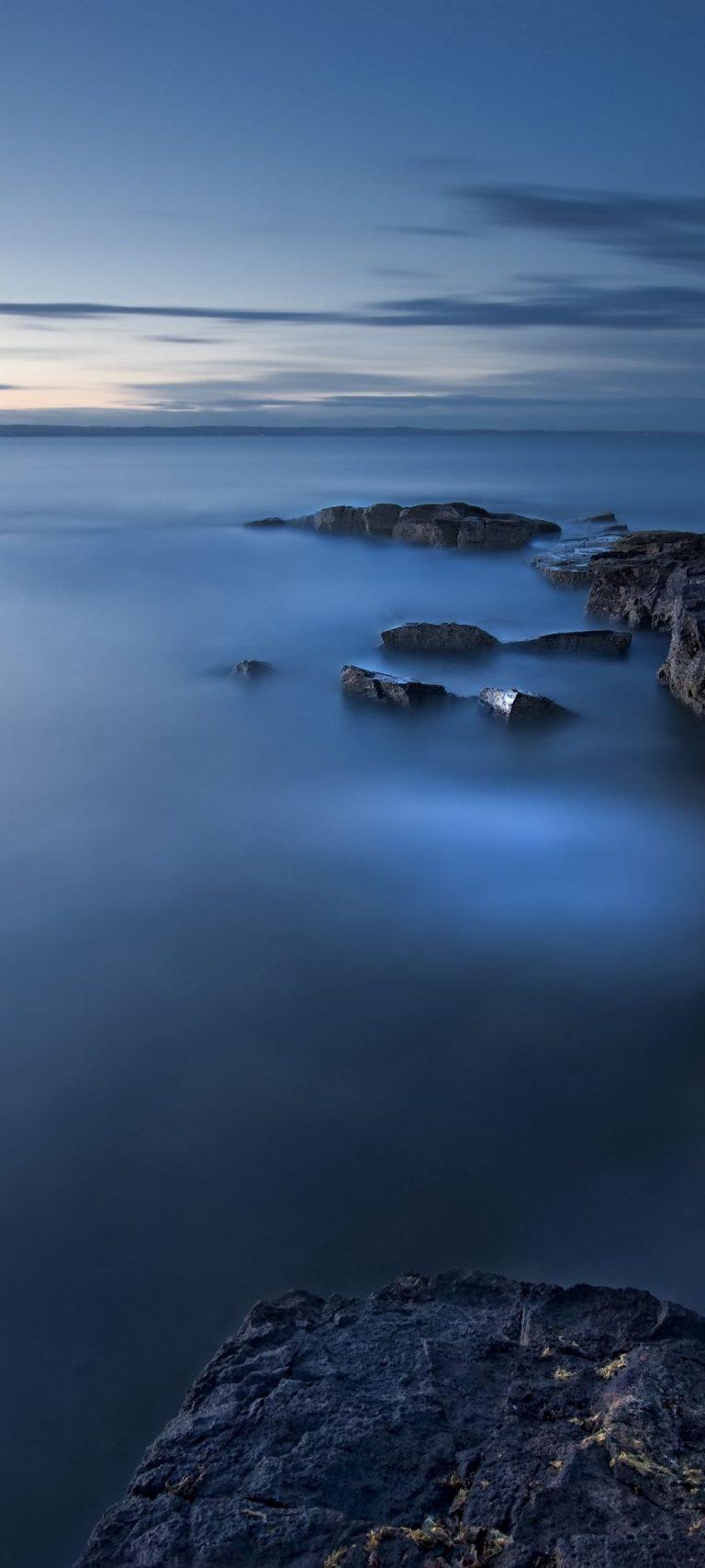 Sea Evening Twilight Great Britain 1080x2400 768x1707