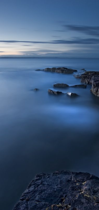 Sea Evening Twilight Great Britain Wallpaper 1440x3040 380x802