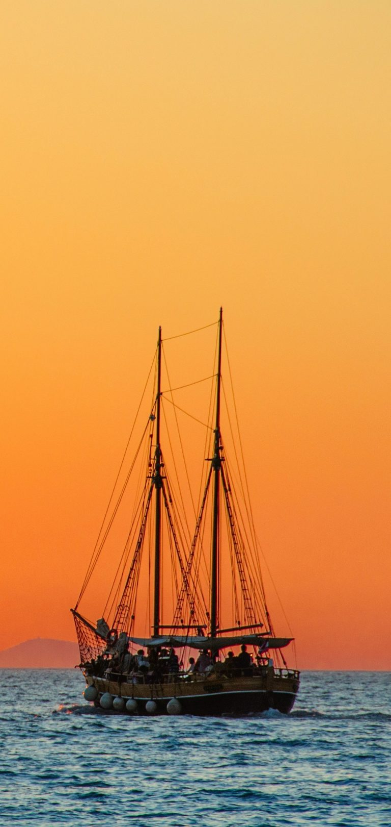 Sea Sailboat Horizon Wallpaper 1440x3040 768x1621