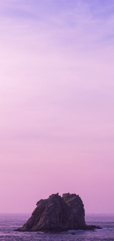 Sea Stone Sky Lilac Wallpaper 1440x3040 380x802