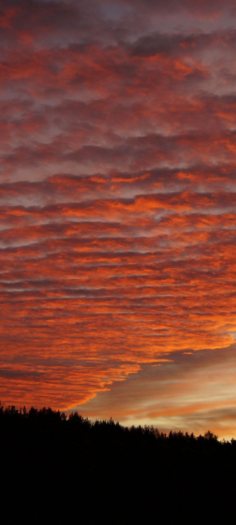 Sky Clouds Sunset Beautiful 1080x2400 768x1707