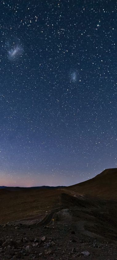 Sky Constellations Night Desert Mountain 1080x2400 380x844