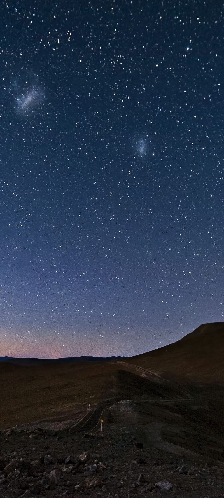 Sky Constellations Night Desert Mountain 1080x2400 768x1707
