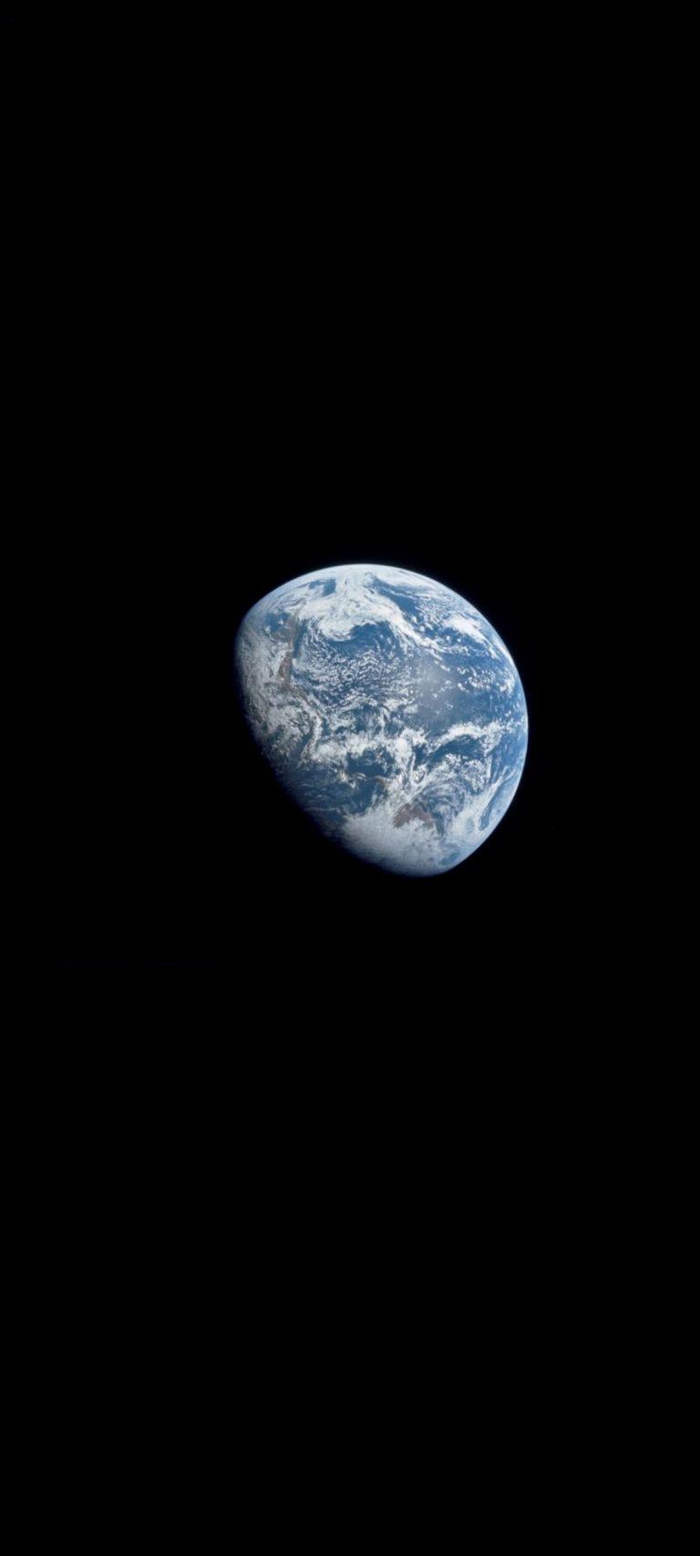 1080×2400 wallpaper: Space Earth Shadow