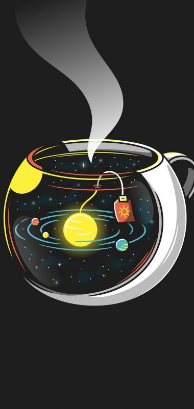 Space Planet Cup Wallpaper 1440x3040 380x802
