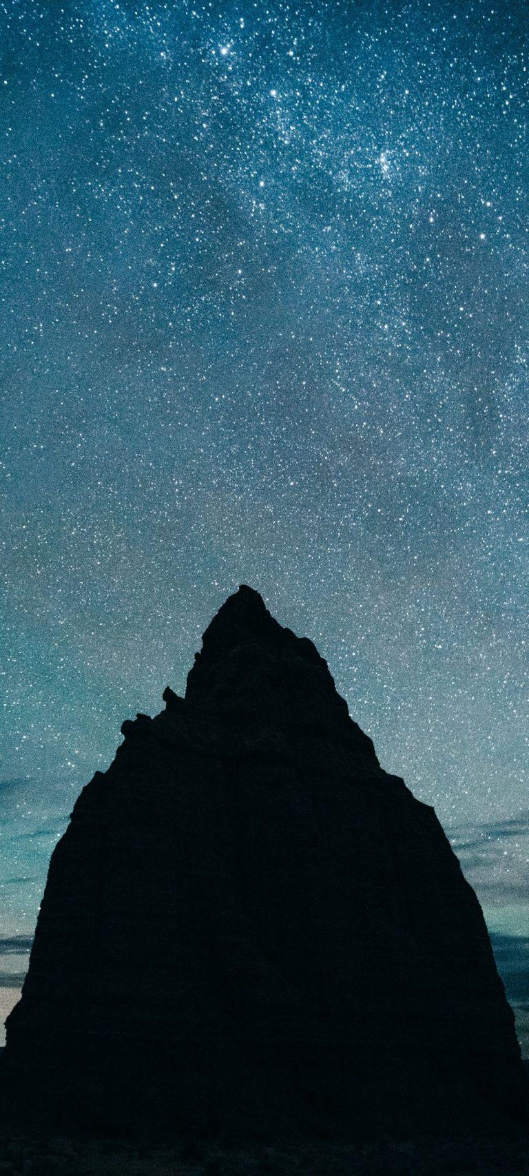 Starry Sky Hills Night 1080x2400 768x1707