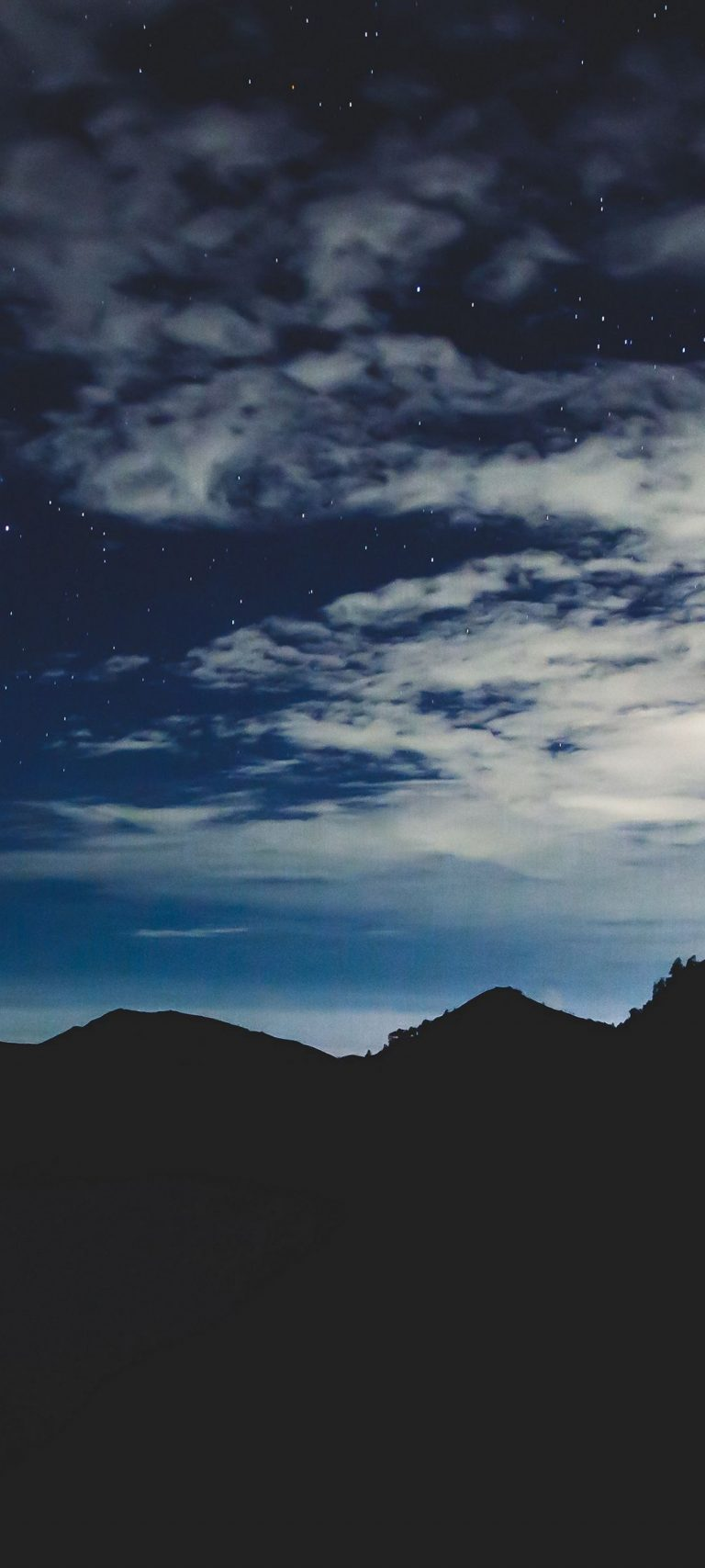 Stars Night Sky Mountains 1080x2400 768x1707