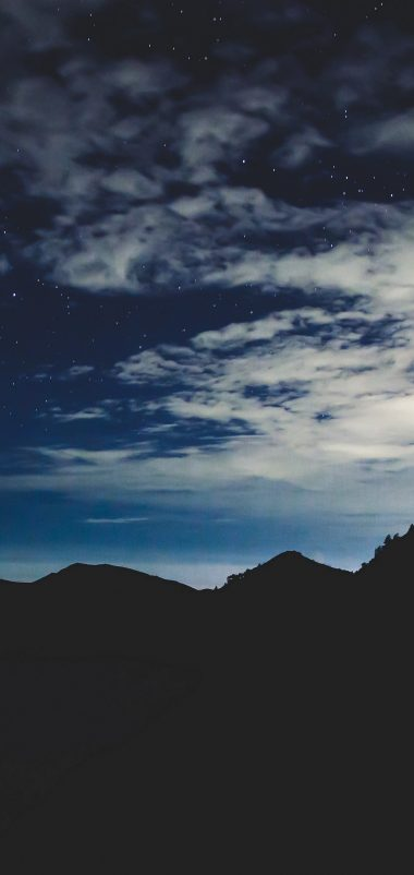 Stars Night Sky Mountains Wallpaper 1440x3040 380x802