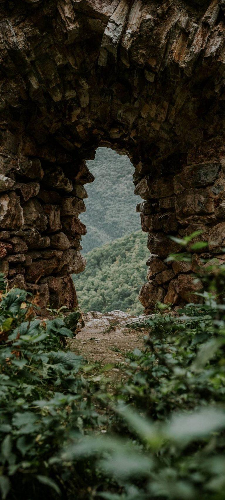 Stone Cave Grass Nature 1080x2400 768x1707