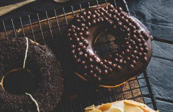 Sweet Donuts Icing Tea Wallpaper 1440x3040 340x220