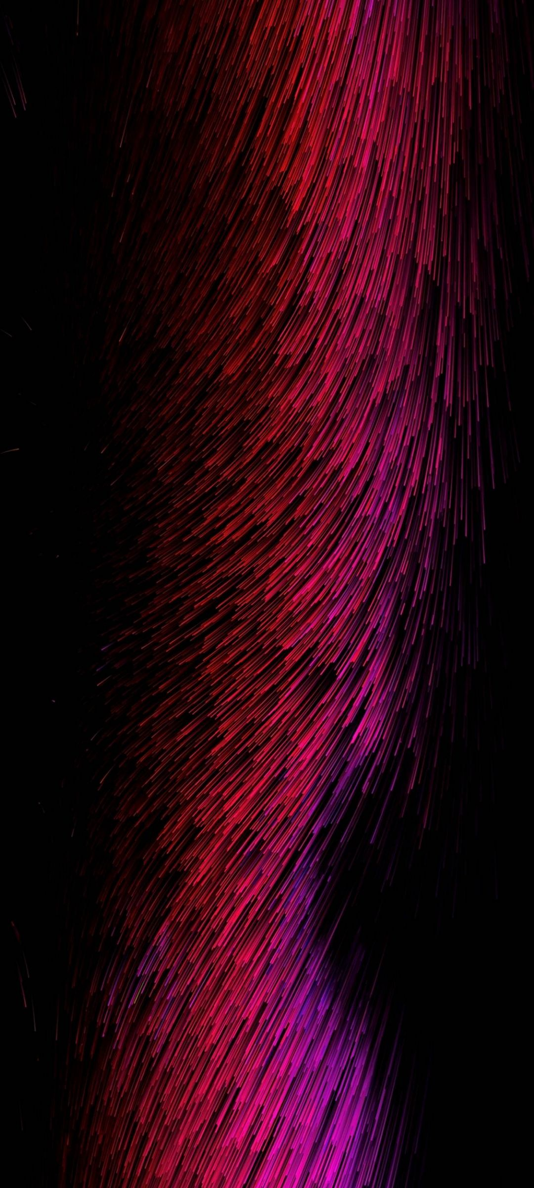 Threads Glow Red Pink Abstract