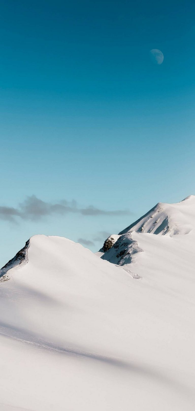 Top Mountain Cloud Minimalism Wallpaper 1440x3040 768x1621