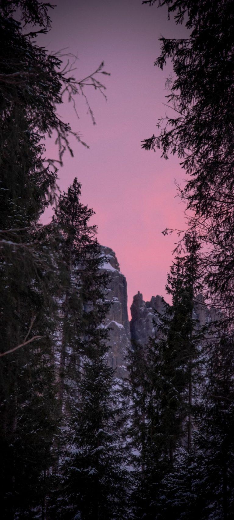 Twilight Snow Mountains Nature 1080x2400 768x1707