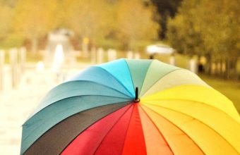 Umbrellas Colorful Kids Rainbow Wallpaper 1440x3040 340x220
