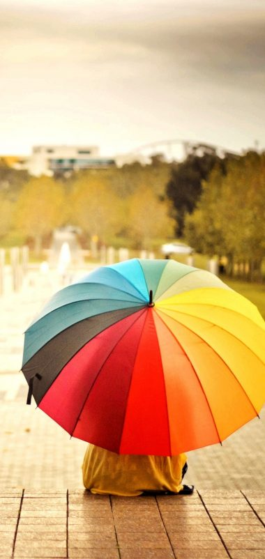 Umbrellas Colorful Kids Rainbow Wallpaper 1440x3040 380x802