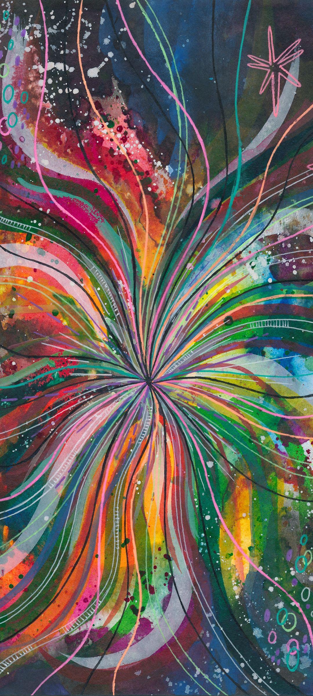 Watercolor Lines Multicolored