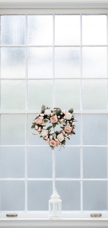 Window Love Hearts Wallpaper 1440x3040 380x802