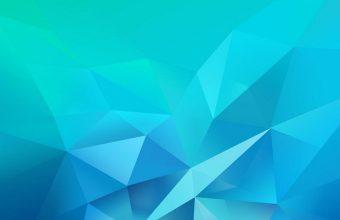 3D Blue Green Blur Polygon 1080x2460 340x220