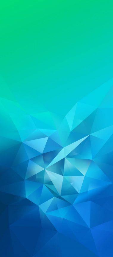 3D Blue Green Blur Polygon 1080x2460 380x866